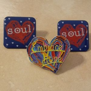 Jewelry - Vintage Penzeys Colorful Pins